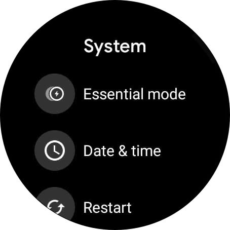 Ticwatch pro 3 essential mode