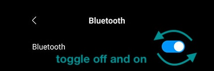 toggle android bluetooth off and on