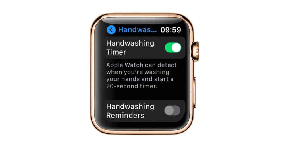 Disable hand washing reminders on apple watch