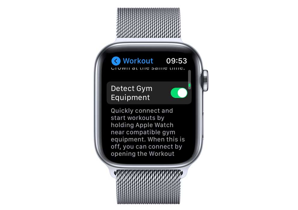 detect gym equipment on apple watch settings