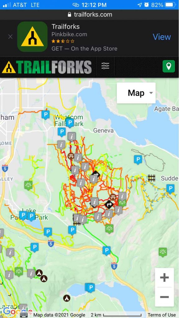 trailforks app heat map
