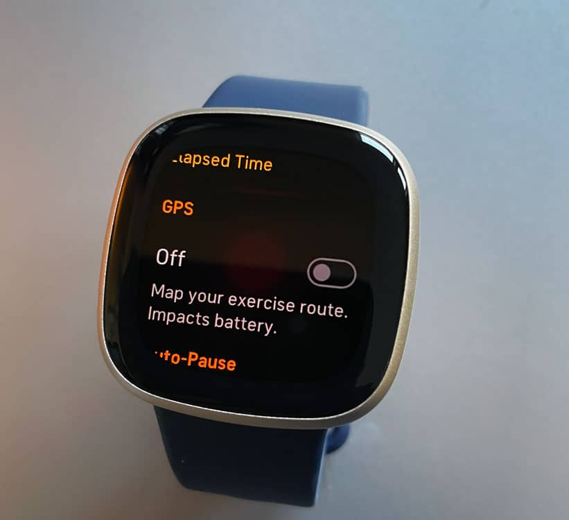 Turn off GPS for Fitbit Versa 3 and Fitbit Sense