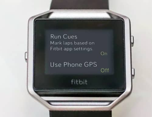 Set Use Phone GPS to OFF on fitbit blaze