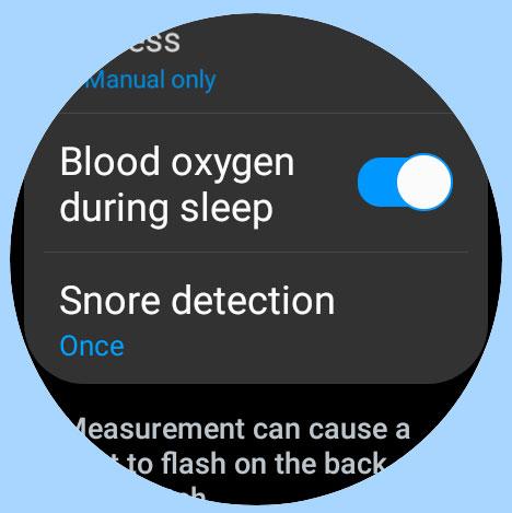 measure blood oxygen during sleep on Samsung Galaxy Watch 4 using Samsung Health app