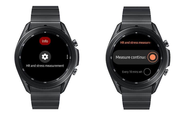 measure your heart rate continuously with Samsung Galaxy smartwatch