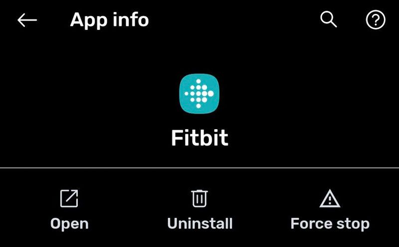 force stop Fitbit App on Android or uninstall it