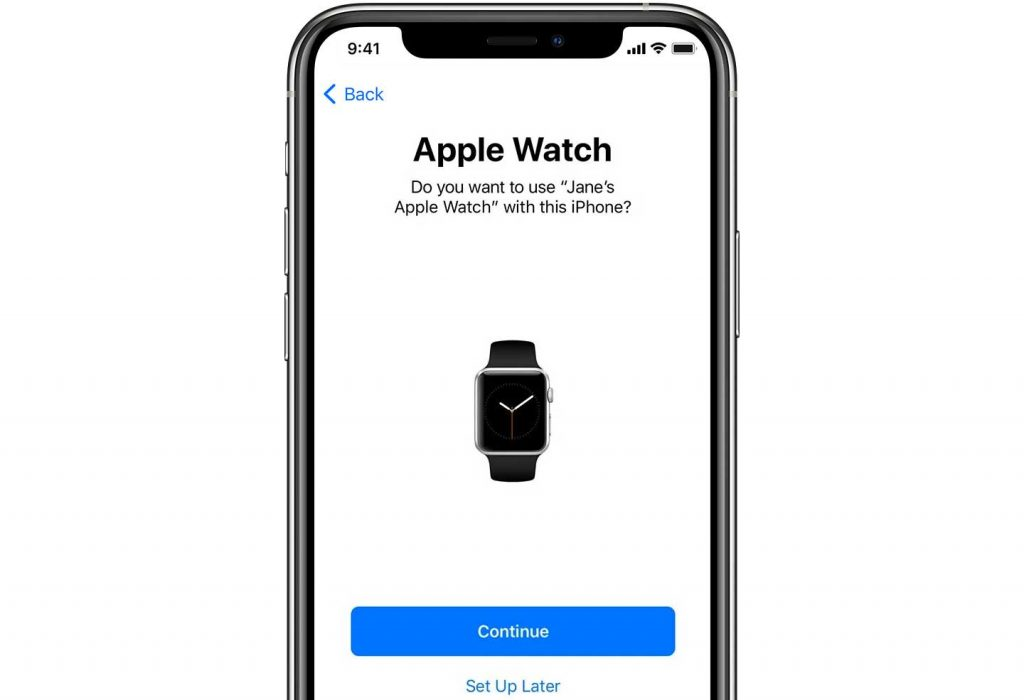 set up Apple Watch with new iPhone using Apple Quick Start