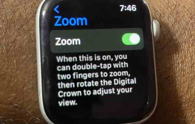 Magnifier feature on Apple Watch