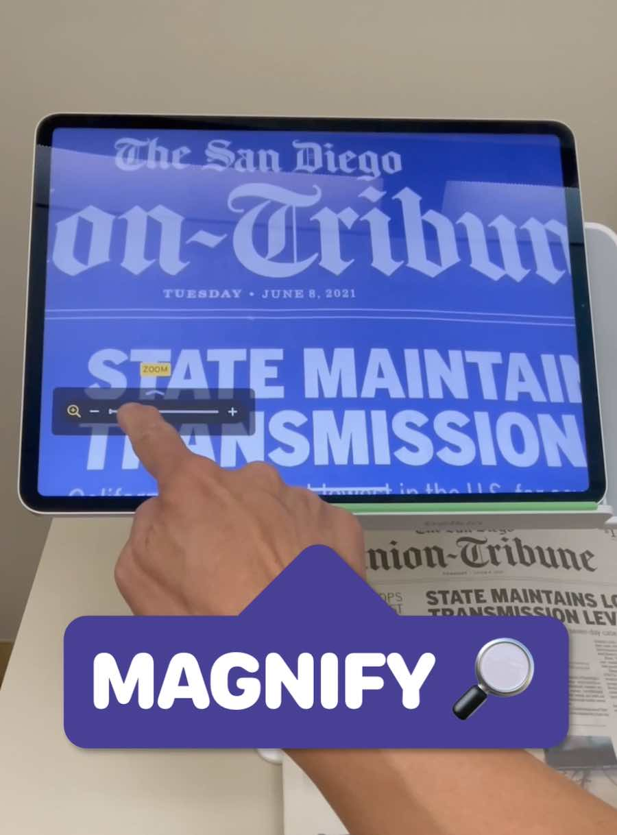 Use Magnifier feature on iPad