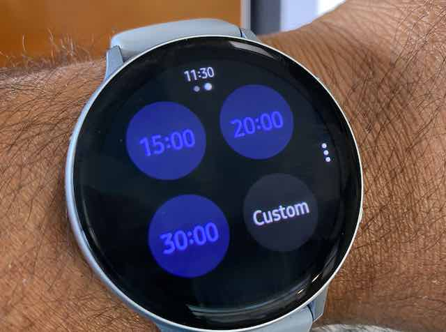 Using Timer function on Samsung Galaxy Watch