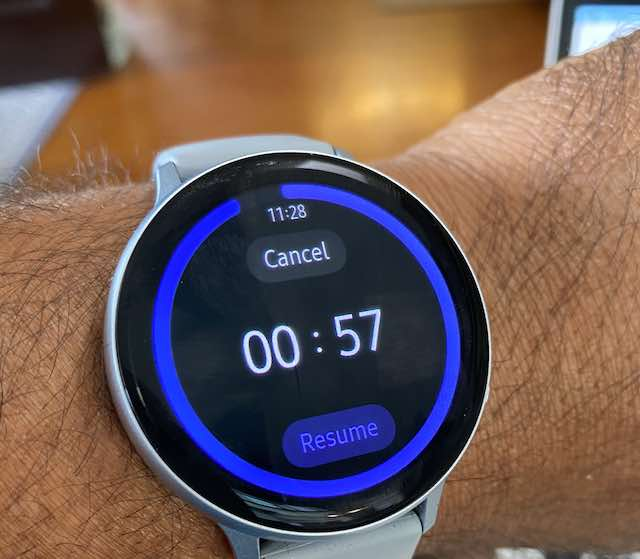How to setup and use Timer on Samsung Galaxy Watch