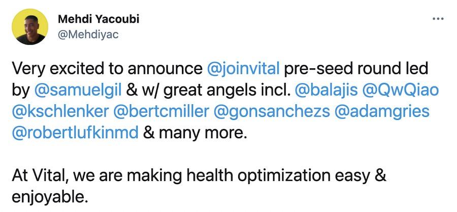 Vital health raises new capital