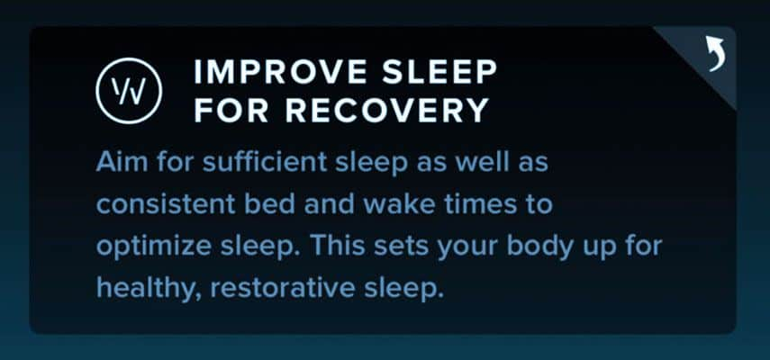 WHOOP get more sleep for better recovery