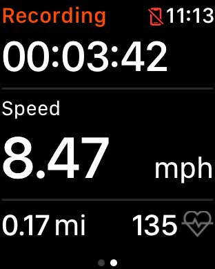Using Strava apple watch app on a walk or run