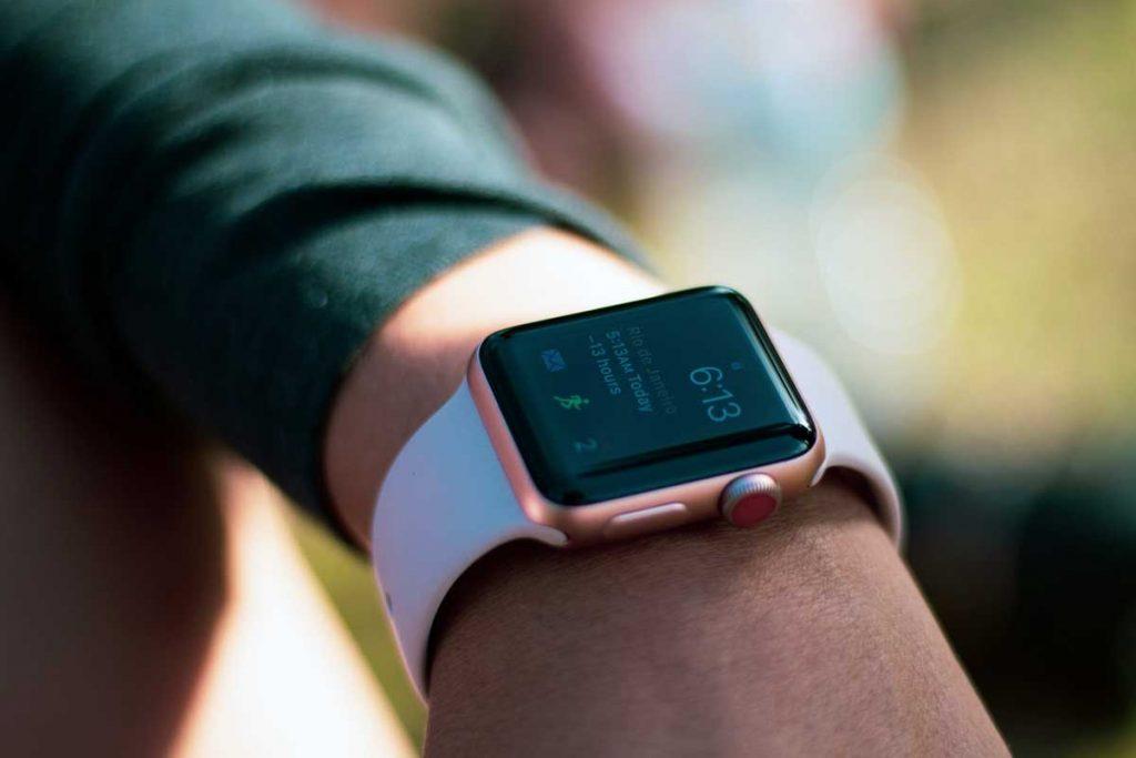 man wearing Apple Watch