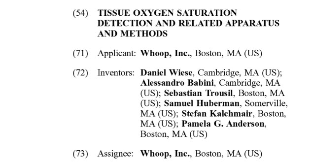 Whoop Tissue oxygen saturation monitoring
