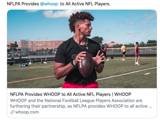 Whoop tracker for NFL