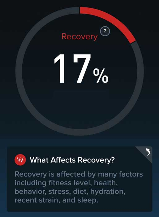 whoop recommendations for low recovery