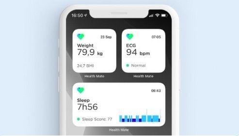 Withings blood pressure app via healthmate