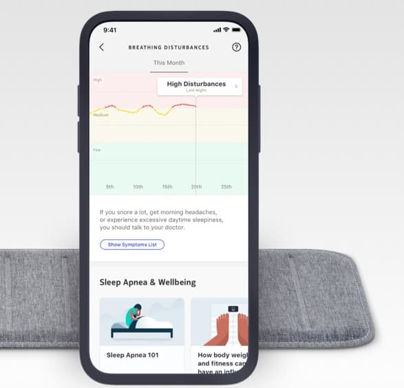 Withings contactless sleep tracking mat