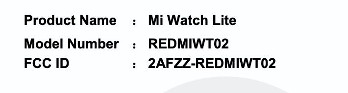Xiaomi Watch Lite smartwatch