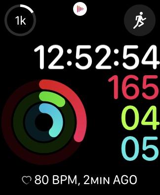 apple watch activity complication