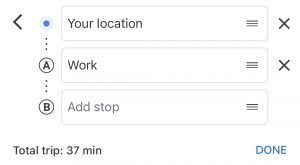 adding a stop in google maps