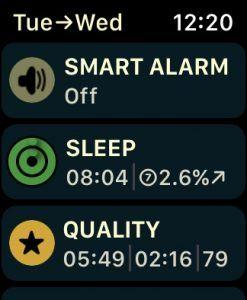 the autosleep app on apple watch