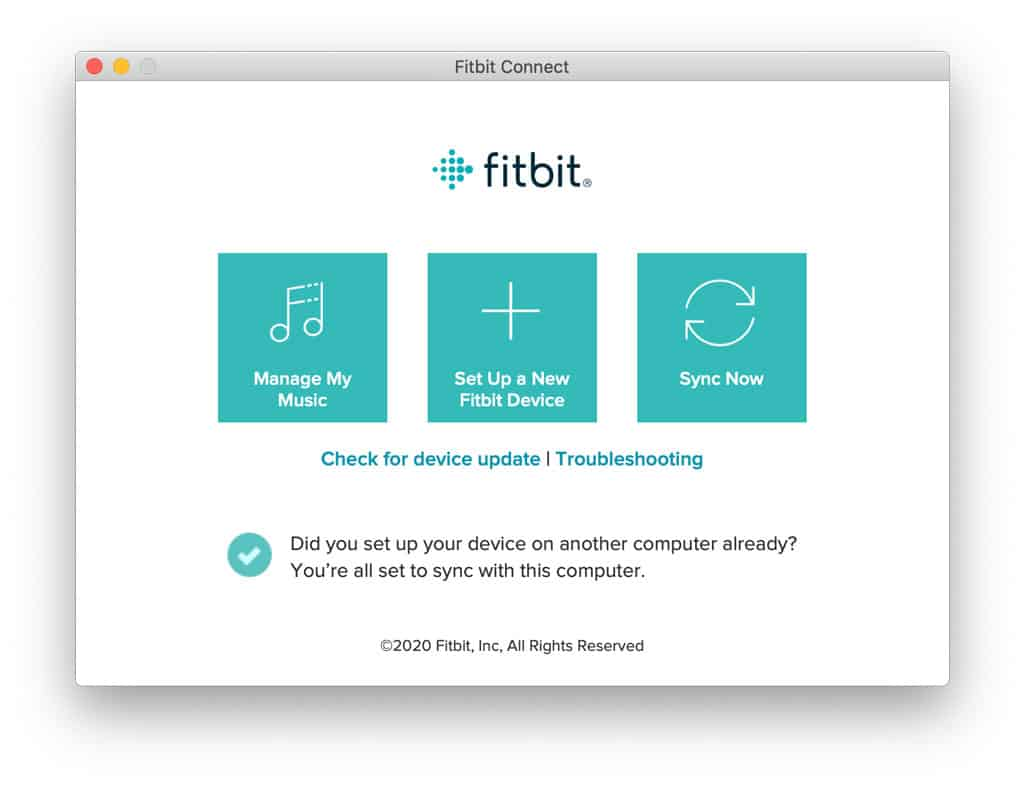 sync your fitbit using fitbit connect app