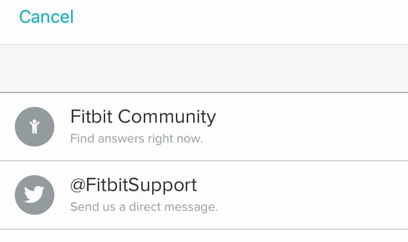 fitbit support and community within the fitbit app