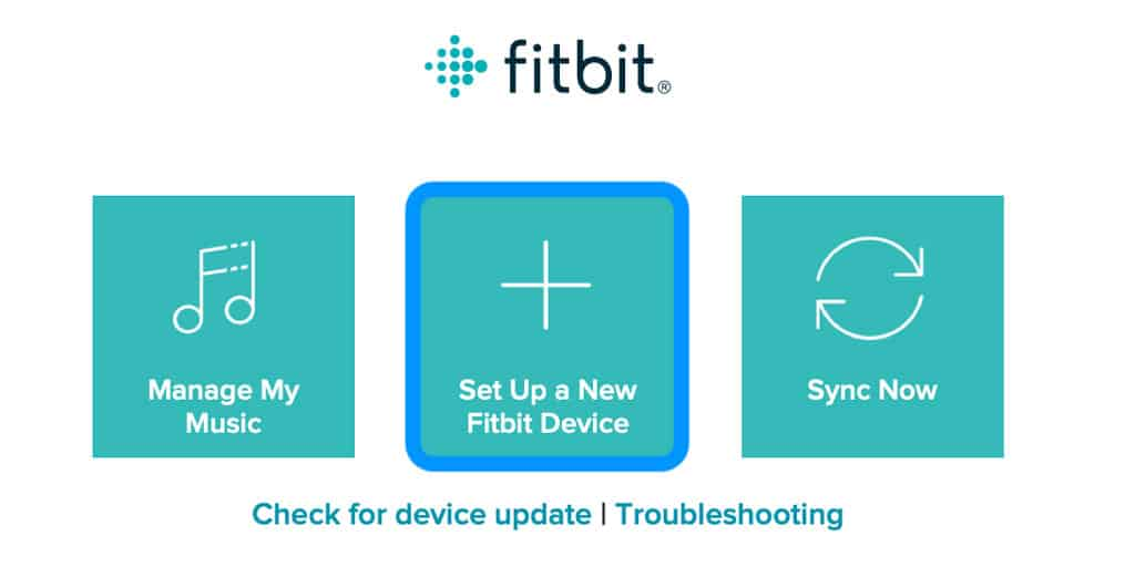 use fitbit connect to set up a device