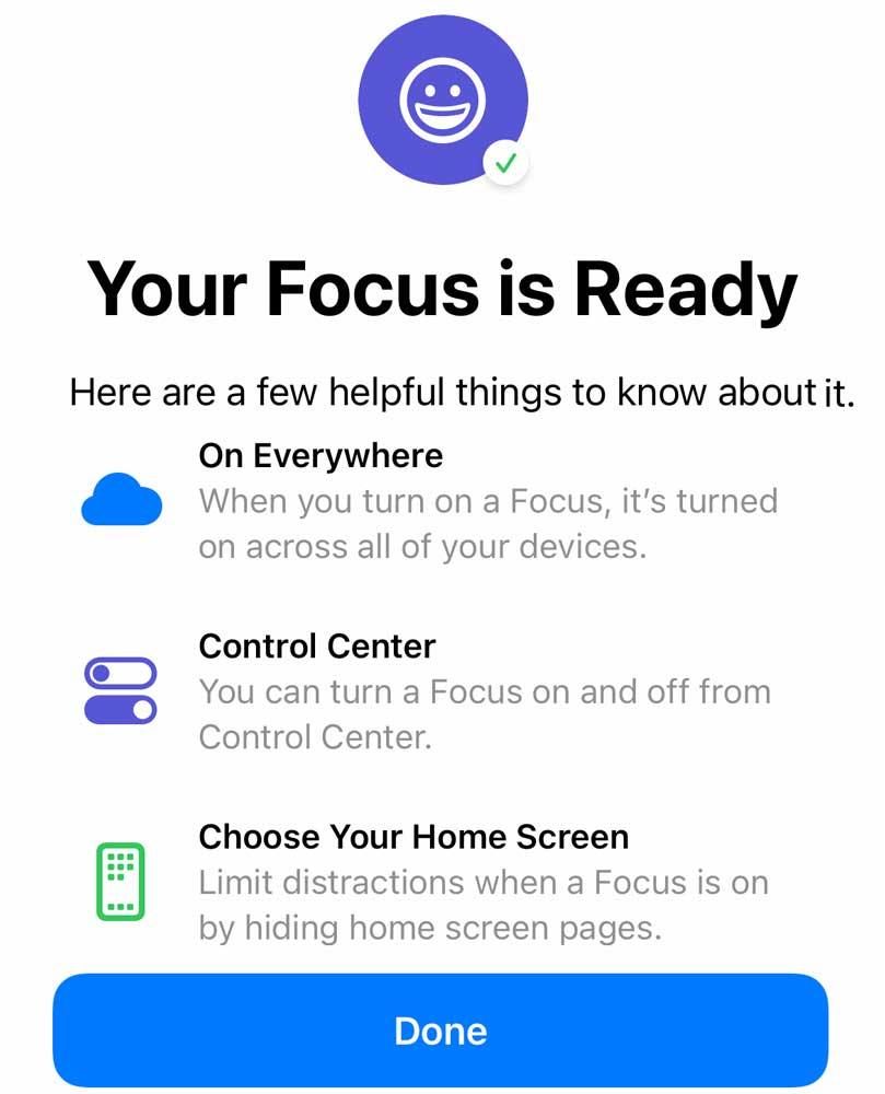 iOS custom focus is ready!