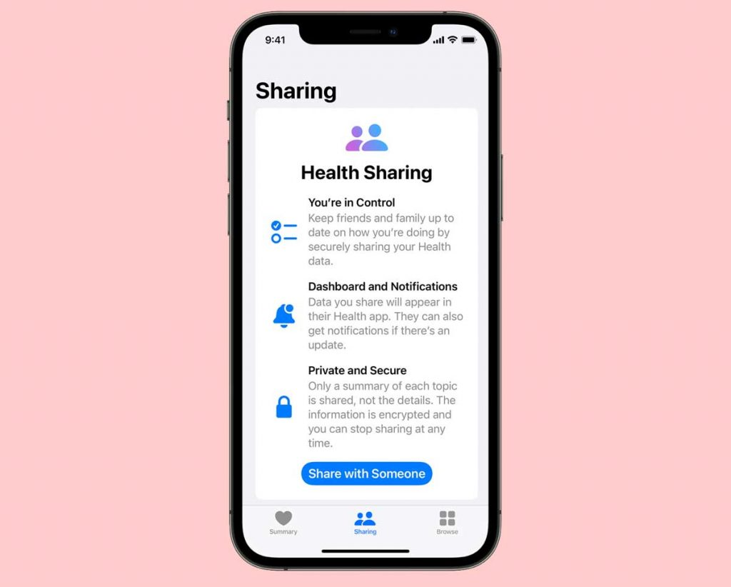 share your health data with others on iPhone using the Health app