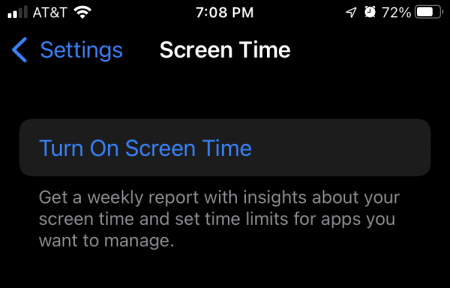 Apple Watch Screen Time on iPhone