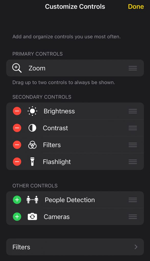 custom controls for magnifier feature on iPad and iPhone