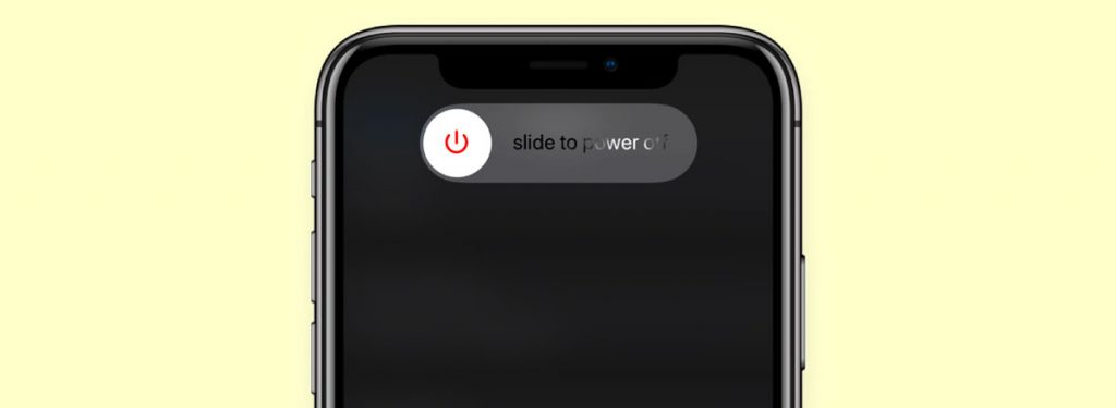slide to power off your iPhone