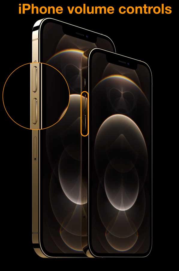 volume controls on iPhone