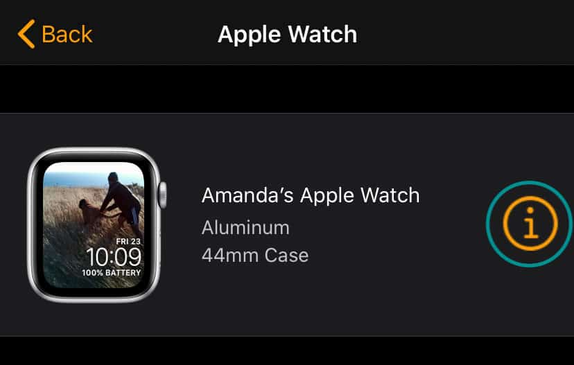 apple watch info i button