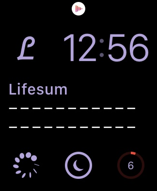 apple watch life sum complication
