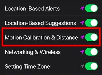 Callibrate distance and motion on Apple Watch