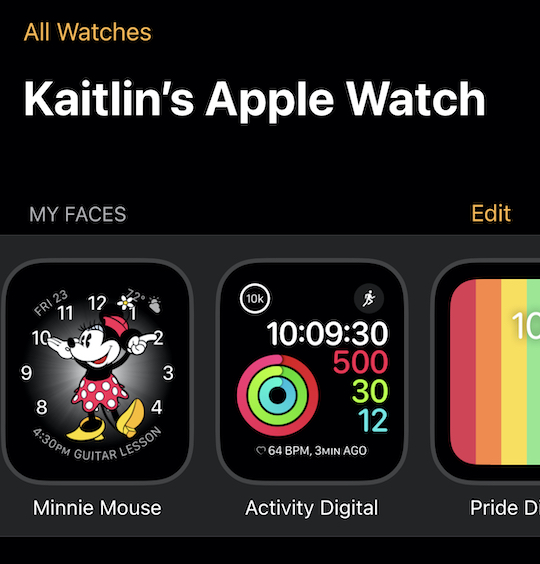 apple watch my faces