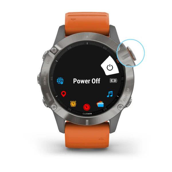 Garmin smartwatch restart process