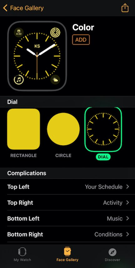 apple watch complications set up
