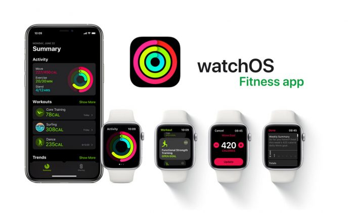 Fitness app iOS 14 and watchOS 7