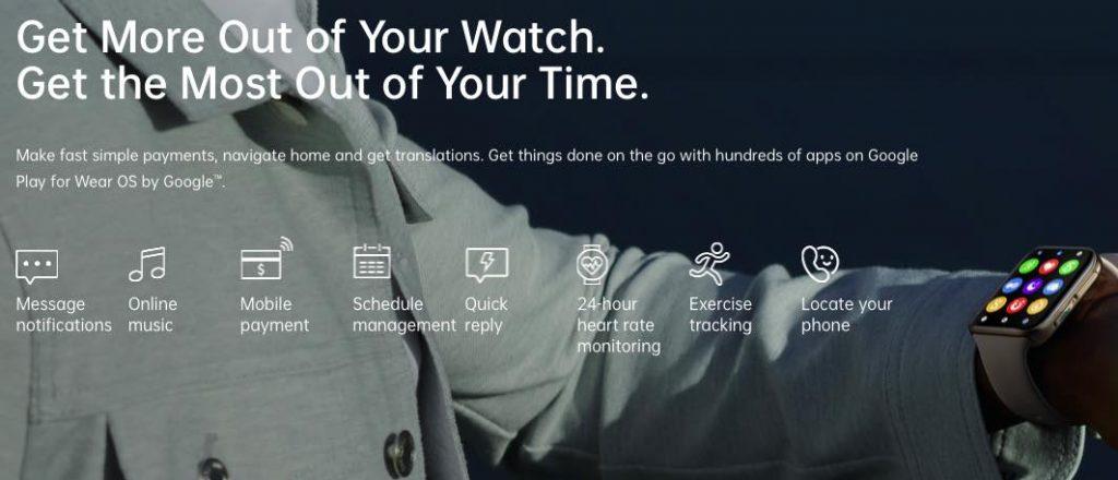 wearOS Oppo Watch Features